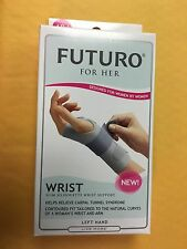Futuro For Her  95345  Slim Silhouette Wrist Support Left Hand  Size ADJ