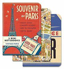 Cavallini Mini Notebooks VINTAGE PARIS FRANCE 4x5 Set 3 Different NBVINPAR/MINI