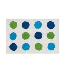 Tappeto bagno a pois bianco, verde e blu in puro cotone 50x80 cm GEDY