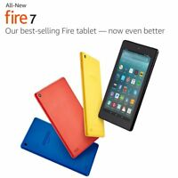 """Brand New Sealed amazon fire 7 Tablet 7"""" with Alexa black/blue/yellow/red 8/16gb"""