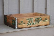 Old Vintage Wooden 7-Up Soda Pop Bottle Crate Carrier Tool The Uncola Open Box