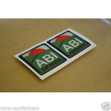 ABI Logo - (SUN VERSION)(RESIN DOMED) - Caravan Stickers Decals Graphics - PAIR