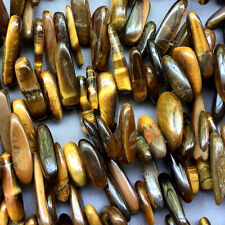 Tigers Eye Smooth Top Drilled Dagger Semi Precious Stone Q40 Beads per Pkg