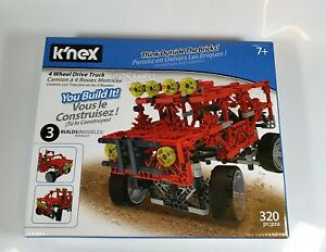 K'NEX 4WD 4 Wheel Drive Truck Building Set - 320 Pieces Brand New