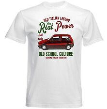 VINTAGE italiana di automobili FIAT UNO TURBO reale potere-Nuovo T-shirt di Cotone