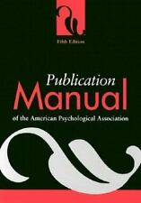 5th Edition Publication Manual of the American Psychological Association APA