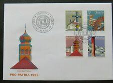 "Schweiz 1996,  FDC, Mi. 1577/80, Satz ""Kulturgüter"""