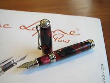 Jean-Pierre Lepine Indigo IN37FS red black mottled resin fountain pen MIB