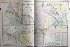 1916 Montgomery Co., Pa, Moreland, Willow Grove, Huntingdon Valley, Atlas Map