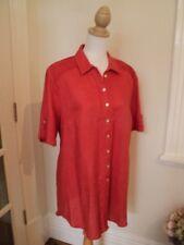 *   gordon smith vintage burnt orange linen shirt 14 long tunic dress