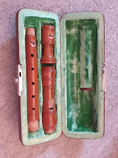 "Very nice, small wooden recorder flute, ""Johannes Adler Barockmeister Auslese"""