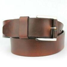 "Dark Brown Wine 100% Real Thick Leather Vintage Retro Belt Fits 32""-35"" Pants"