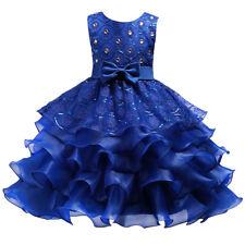 Flower Girl Ruffle Princess Tutu Dress for Baby Kids Party Wedding Bridesmaid