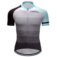 New Mens Jersey Women Cycling Outdoor Sports Cycling Jerseys V Collar Gray Color