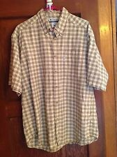 Columbia Men's Large Outdoor Shirt Green and Tan