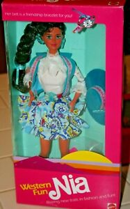 Vintage 1989 Barbie Western Fun Nia - New in Box