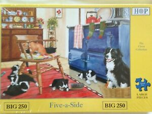 Brand New House of Puzzles BIG250 Large Piece Jigsaw Puzzle - FIVE-A-SIDE