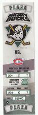 DUCKS VS CANADIENS 1996 FULL TICKET STUB MINT 2/28/96 PAUL KARIYA 2 GOALS