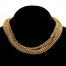 Antique Victorian 14k Yellow Gold Long Rondel Chain Necklace