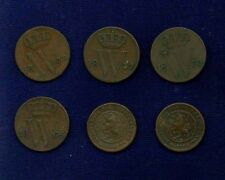 NETHERLANDS KINGDOM  1/2 CENT: 1837,1864,1870,1875,1891