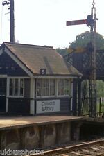 Chilworth & Albury Signal Box Surrey 1973 Rail Photo