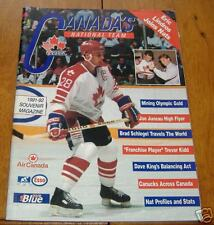 team canada  souvenir  magizine  1991-92