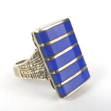 modernist Ring Silber mit Emaille,silver enamel, Denmark N.E. FROM 1960s vtg 💎