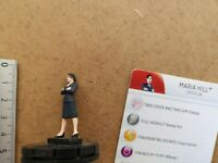 Nr 011 MARIA HILL    /MINIATURE+ CARD / MARVEL HEROCLIX