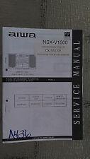 Aiwa cx-nv1500 service manual original repair book stereo cd player radio