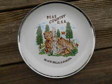 Old Vintage Souvenir Wall Plate Home Decor Bear Country Black Hills South Dakota