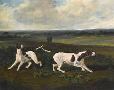 Herring John Two English Pointers In A Landscape Canvas Print 16 x 20 #6893