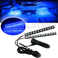 2X Blue 12 LED Car SUV Interior Footwell Floor Decor Atmosphere Light Neon Strip