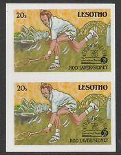Lesotho (867) 1988 TENNIS Federation 20s IMPERF PAIR unmounted mint