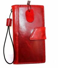 genuine retro leather Case fit apple iphone 6s book wallet bracket cover wine