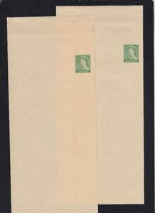 Canada 1954 post bands/wrappers, set of 2 unused QEII 2c Karsh