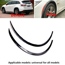 2x73cm Car Fender Wheel Eyebrow Protector Strips Carbon Fiber Sticker Accessory