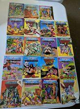 Mini Comic Lot 19 Masters of the Universe He-Man Action Figure MOTU Mattel Rare
