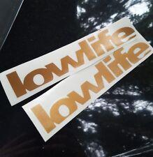 2 Aufkleber Low Life Auto Tiefer  Sticker Tuning JDM lowlife wow static KUPFER