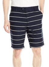 New Nautica Mens Slim Fit Navy Novelty Printed Casual Walking Shorts 38
