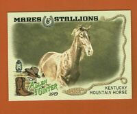 2019 Topps Allen & Ginter Mares & Stallions Kentucky Mountain Horse MS-10