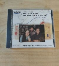"""Anthony De Mare """"John Cage/Meredith Monk:Pianos and Voices"""" 1992 Koch CD"""