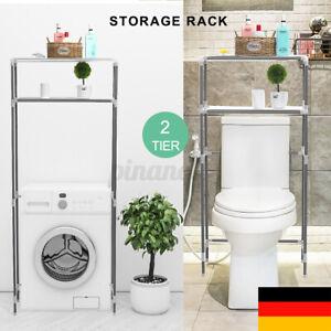 2-Tier Regal Toilettenregal waschmaschinenregal Überbauregal WC Stand