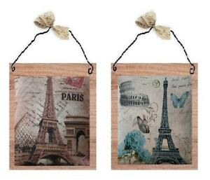 💗 Paris Pictures Eiffel Tower Roses France Wall Hangings Home Decor Plaques