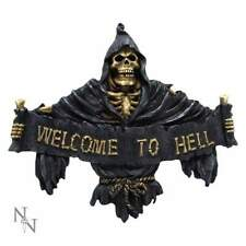 Welcome To Hell 25cm Reaper Sign