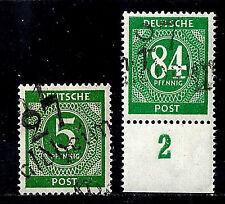 SBZ BZH Bezirk 27  - I b V und I x V Überdruck Waldheim  **