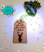 Personalised Wooden Christmas Tags / Labels. Gift Labels, Luxury Tags