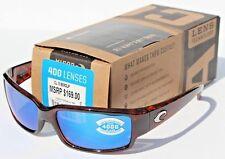 COSTA DEL MAR Caballito POLARIZED Sunglasses Tortoise/Blue Mirror 400G NEW