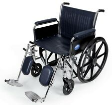 """Medline MDS806950FLA Extra-wide Wheelchair With Full Length Arms and Elevating Legrest 24"""" 500 Lb. Capacity"""