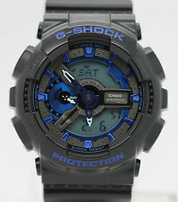 New Casio G-Shock GA110CB-1A Blue Dial Black Matte Resin Strap Men's Watch