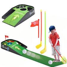 Mini Golf práctica de conjunto Kids Divertido Juguete Con Sonidos De Juego Interior poniendo Bola Club